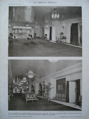 Reception Hall and Art Hall in the Blackstone , Chicago, IL, 1910, Marshall & Fox