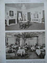 French Dining Room and the Marble Dining Room in the Blackstone , Chicago, IL, 1910, Marshall & Fox