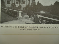 Alterations to the House of W. A. Read, Esq., Purchase, NY, 1913, Donn Barber