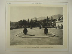 Formal Garden at the Residence of Mr. and Mrs. James Ward Throne , Santa Barbara, CA, 1930, Elmer Clark