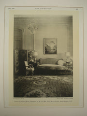 Corner of the Drawing Room at the Residence of Mr. and Mrs. James Ward Throne , Santa Barbara, CA, 1930, Elmer Clark