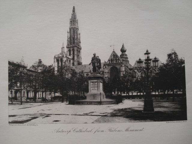 Antwerp Cathedral, from Rubens Monument , Antwerp, Belgium, EUR, 1886
