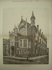 Church House , Westminster, London, England, UK, 1896, A. W. Blomfield