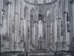 Cologne Cathedral, Choir East View , Cologne, Germany, EUR, 1886