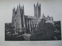 Canterbury Cathedral, from the South West , Canterbury, England, UK, 1886