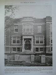 Model School Building at the State Normal School , Willimantic, CT, 1910, Davis & Brooks
