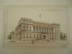 Design for a High School Building , Wilmington, DE, 1899, H. A. Campbell