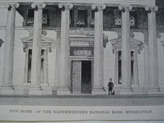 New Home of the Northwestern National Bank , Minneapolis, MN, 1903