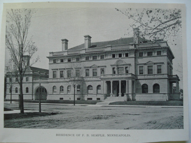 Residence of F.B. Semple , Minneapolis, MN, 1903