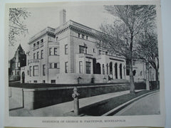 Residence of George H. Partridge , Minneapolis, MN, 1903