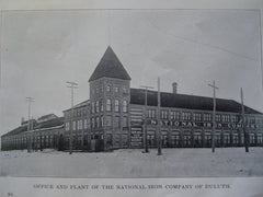 Office and Plant of the National Iron Company , Duluth, MN, 1903