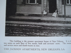 Jackson Apartments , New Orleans, LA, 1910, Stone Bros.