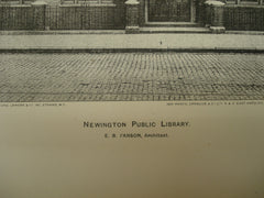 Newington Public Library , Newington, London, England, UK, 1900, E. B. I'Anson