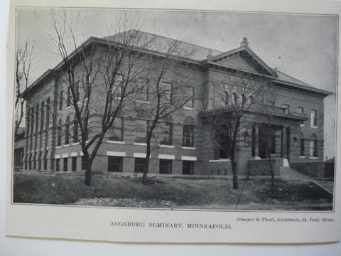Augsburg Seminary, Minneapolis, MN, 1903