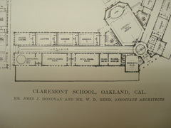 Claremont School , Oakland, CA, 1915, John J. Donovan and W. D. Reed