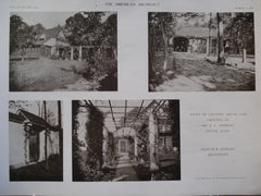Views of Country House and Grounds of Mr. J.C. Hopkins , Dover, MA, 1910, Kilham & Hopkins