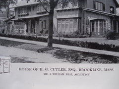 House of H.G. Cutler, Esq., Brookline, MA, 1913, J. William Beal