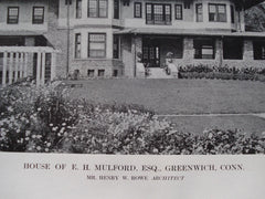 House of E.H. Mulford, Esq., Greenwich, CT, 1913, Henry W. Rowe