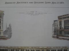 Design for the Union League Club-House, 5th Ave. & 39th St., New York, NY, 1879, Bruce Price