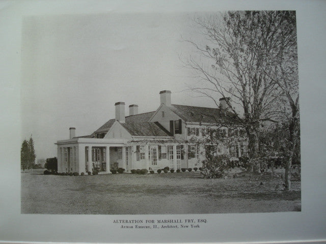 Alterations to the House of Marshall Fry, Esq., Southampton, Long Island, NY, 1913, Aymar Embury, II