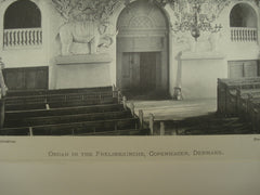 Organ in the Frelserkirche, Copenhagen, Denmark, EUR, 1897, Unknown