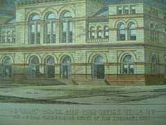 US Court House and Post Office , Utica, NY, 1879, Mr. J. G. Hill