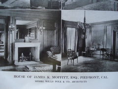 House of James K. Moffitt, Esq., Piedmont, CA, 1913, Willis Polk & Co.