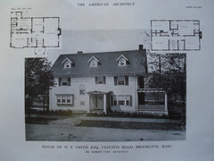 House of W.F. Smith, Esq. on Clinton Road , Brookline, MA, 1913, Robert Coit