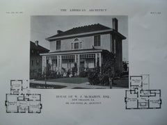 House of W.J. McMahon, Esq., New Orleans, LA, 1913, Sam Stone, Jr.