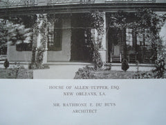 House of Allen Tupper, Esq., New Orleans, LA, 1909, Rathbone E. Du Buys