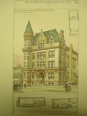 Young Mens Christian Association Building, Worcester, MA, 1887, Fuller & Delano