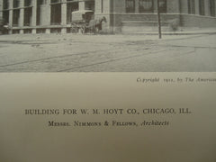 Building for W. M. Hoyt Co., Chicago, IL, 1911, Messrs. Nimmons & Fellows