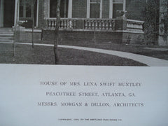 House of Mrs. Lena Swift Huntley on Peachtree Street , Atlanta, GA, 1909, Morgan & Dillon