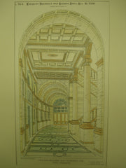 Main Corridor of the Crocker Building, San Francisco, CA, 1890, A. Page Brown