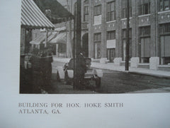 Building for Hon. Hoke Smith , Atlanta, GA, 1909, Harry Leslie Walker