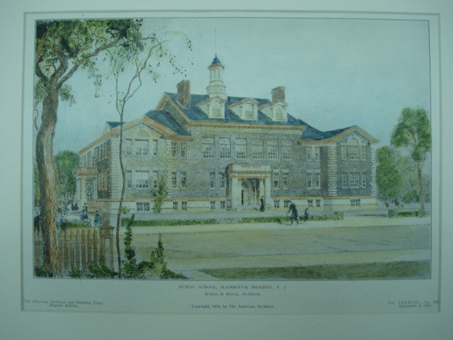 Public School , Hasbrouck Heights, NJ, 1905, Walker & Morris