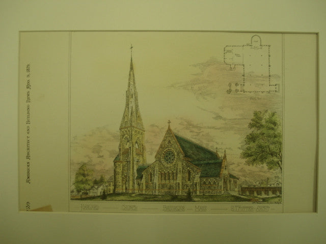 Harvard Church, Brookline, MA, 1879, E. T. Potter