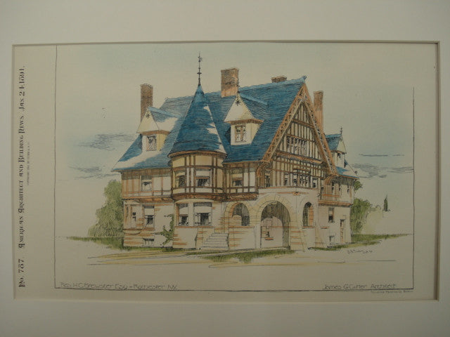 Residence of H. C. Brewster, Rochester, NY, 1891, James G. Cutler