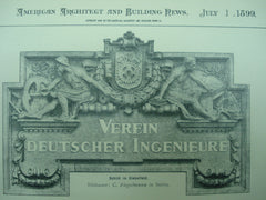 Details from the Engineers' Club House , Berlin, Prussia, EUR, 1899, Reimer & Korte