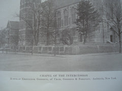 Chapel of the Intercession, New York, NY, 1914, Bertram Grosvenor Goodhue, of Cram, Goodhue & Ferguson