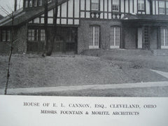 House of E.L. Cannon, Esq., Cleveland, OH, 1912, Messrs. Fountain & Moritz