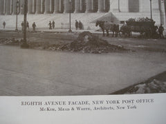 Eighth Avenue Facade of the New York Post Office, New York, NY, 1913, McKim, Mead and White