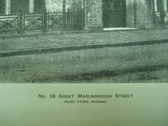 No. 18 Great Marlborough Street , Soho, London, England, UK, 1895, Percy Stone
