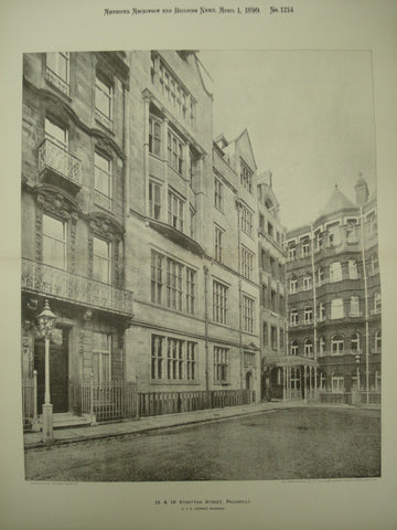 15 & 16 Stratton Street , Piccadilly, London, England, UK, 1899, C. J. H. Cooper