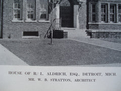 House of R.L. Aldrich, Esq. , Detroit, MI, 1912, Mr. W.B. Stratton