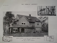 House of Mrs. E.W. Pyle, Van Cortland Terrace, South Yonkers, NY, 1912, Mr. Fred M. Truex
