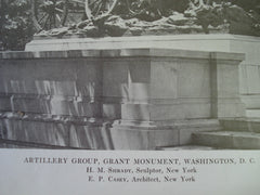 Artillery Group of the Grant Monument, Washington, DC, 1914, E.P. Casey & H.M. Shrady, Sculptor