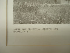 House of Ernest A. Gibbons, Esq., Bogota, NJ, 1909, Messrs. Squires & Wynkoop