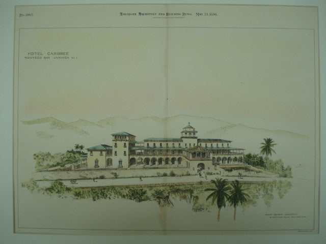Hotel Caribbee , Monteco Bay, Jamaica, 1896, Percy Griffin