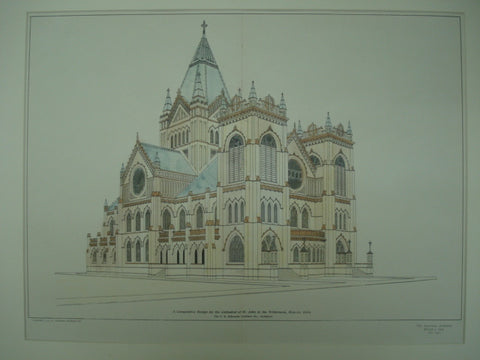 Competitive Design for the Cathedral of St. John in the Wilderness , Denver, CO, 1904, F. E. Edbrooke